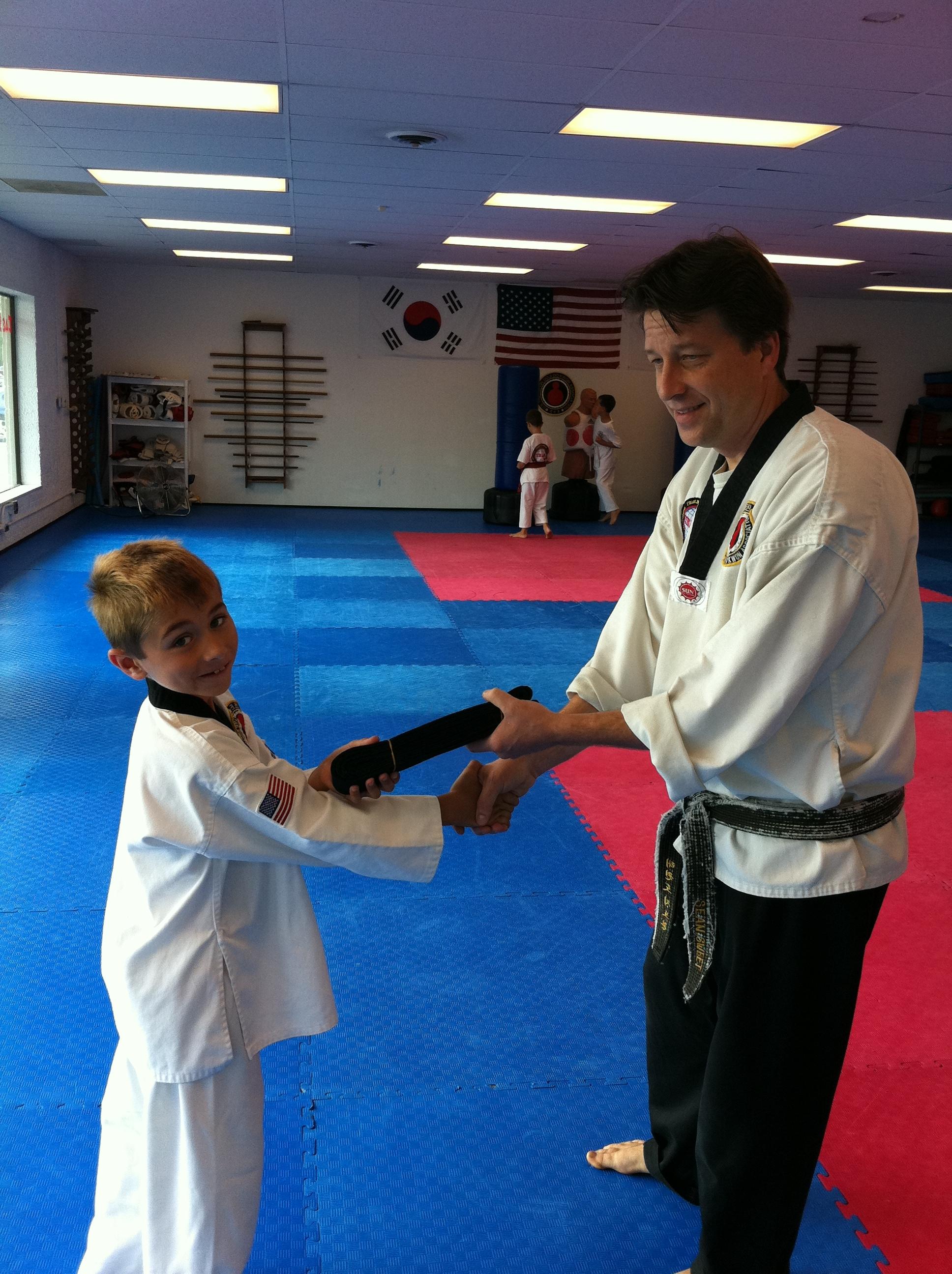 1st black belt taekwondo exam